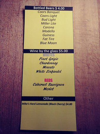 Wickenburg, AZ: Alcohol List