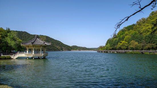 Gumi, Südkorea: A view of the whole reservoir