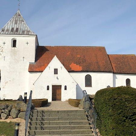 Horsens, Danmark: Gangsted kirke april 2018