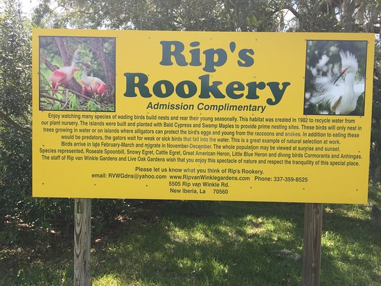 Rip Van Winkle Gardens: Address and contact information on the sign.