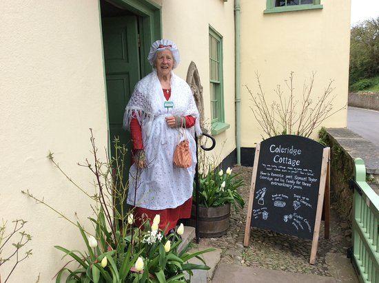 Nether Stowey, UK: This lady gave a colourful touch to our visit
