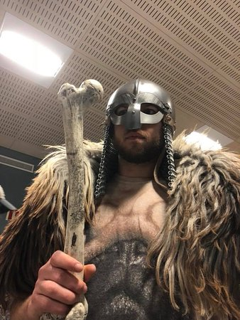 Viking World : Just trying on the viking garb to get in the mood. It worked.