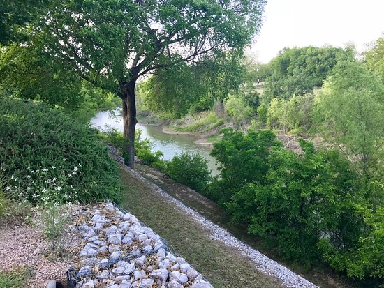 Marble Falls, TX: View up the creek
