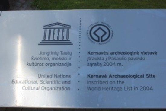 Kernave, Lithuania: 世界文化遺産の標識