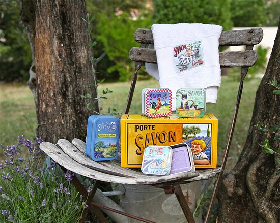 Boite métal savon 100g, 200g, serviettes de bain & savon rotatif - La Savonnerie De Nyons