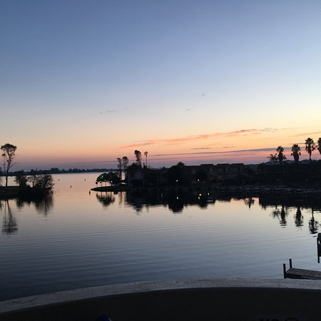 Mulwala, Australia: View from the balcony of our apartment