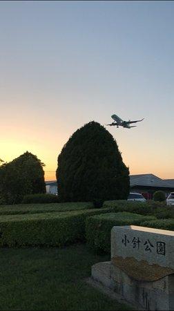 Air Front Oasis Komaki: 公園の上を通過