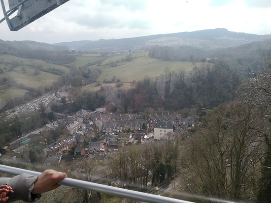 Heights of Abraham: Good views. Too soon to finish. Can see the Matlock Bath