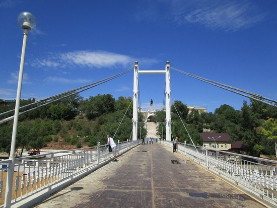 Pedestrian bridge between Europe and Asia