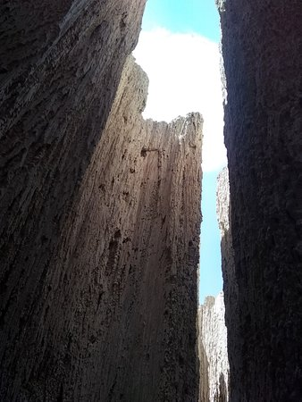 Cathedral Gorge State Park: Taken from the floor of one of the slot canyons