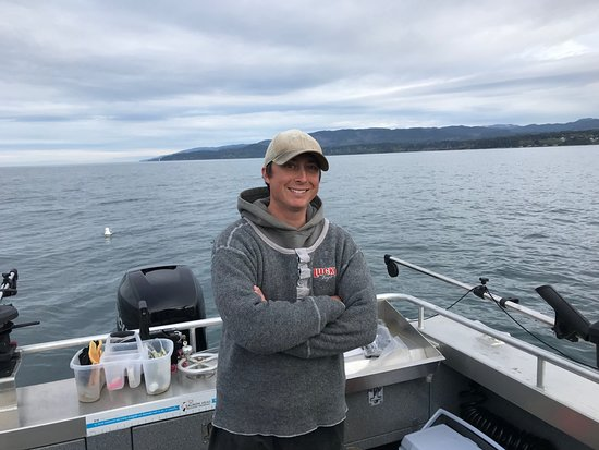 Goin Coastal Fishing Charters: Tory, our Captain, is a Sooke local.