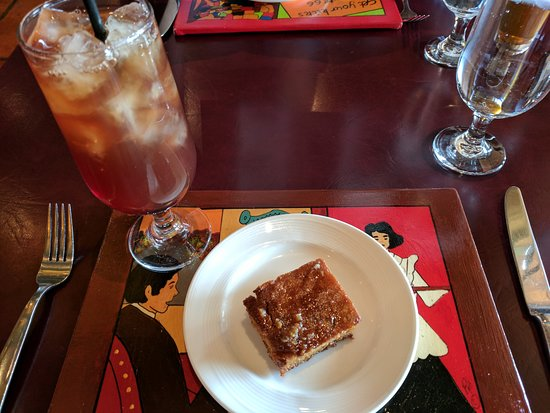 Turquoise Room: start lunch with freshly baked honey and butter glazed cornbread