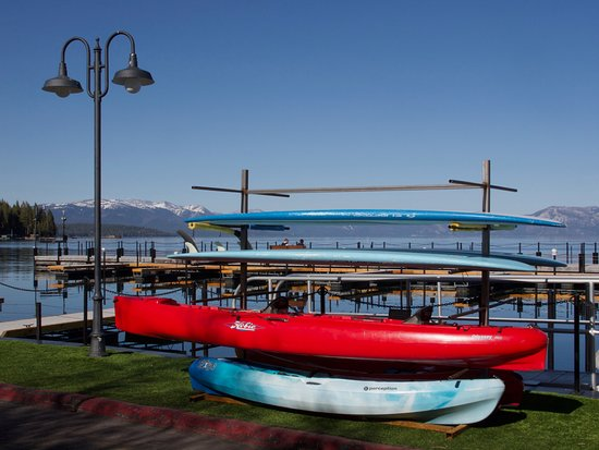 Sunnyside Restaurant and Lodge: High Sierra Waterski School boards & kayaks at Sunnyside