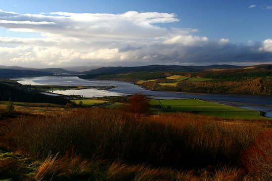 Bonar Bridge, UK: Millionaire's view point on the Struie Hill