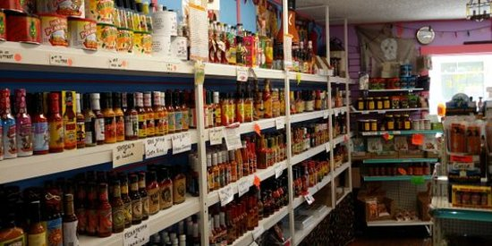 Tarpon Springs, FL: hundreds of hot sauce and spices.