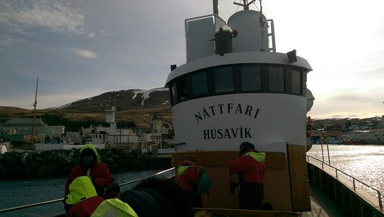 Zdjęcie Original Whale Watching Tour on board a Traditional Oak Ship from Husavik