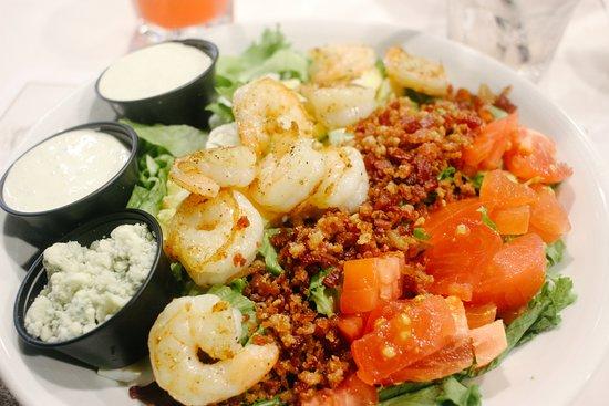 River House Seafood: grilled shrimp Cobb salad