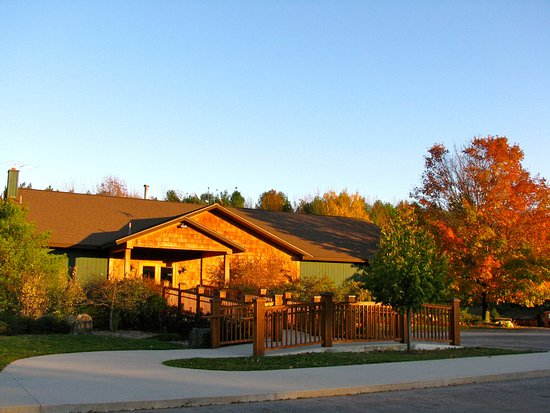 Lake Leelanau, MI: A warm fall evening at Good Harbor Vineyards.