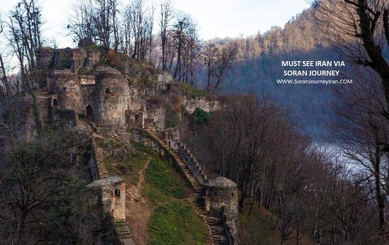 Fuman, Irã: Rudkhan Castle in Gillan , old castle in the north of Iran among dense jungles