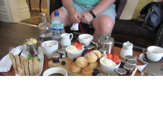 Brandon, UK: Cream tea - with 12 pots of jam!
