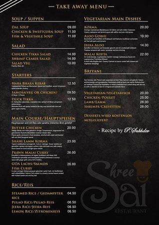 Leissigen, Schweiz: Our menu