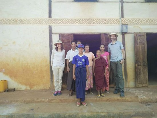 Pindaya, Myanmar: Our clients with Danu Family