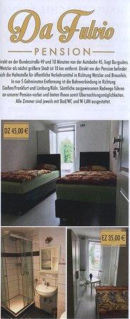 Solms, Germany: Speisekarte