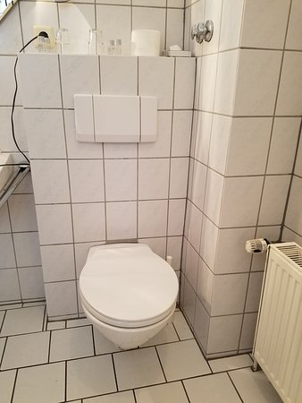 Peine, Duitsland: The grout throughout the bathroom was full of black mold.