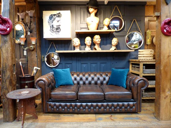 Reclaimed World: We stock a great range of quality leather Chesterfield sofas, chairs and foot stools.