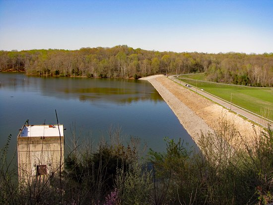 Monroe Lake: Another view from overlook deck