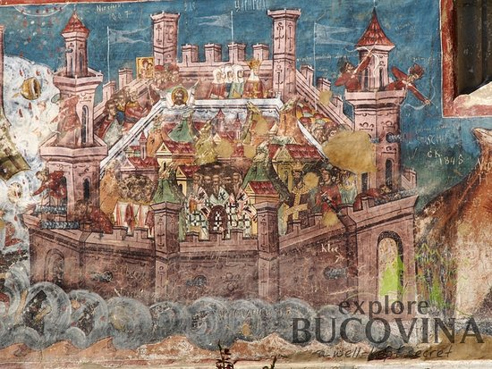 "Explore Bucovina: ""The siege of Constantinople"" - Moldovita Monastery"
