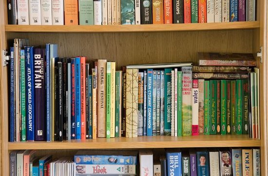 Oakfield B&B: Books in guests' lounge
