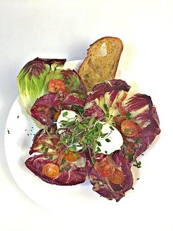 Georgetown, ME: Breakdast salad at the Robinhood Free Meetinghouse