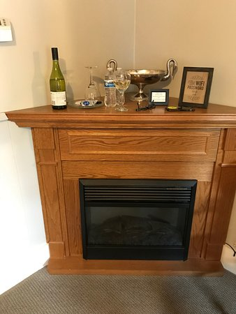 Oak Hill Bed and Breakfast: Small corner gas fireplace