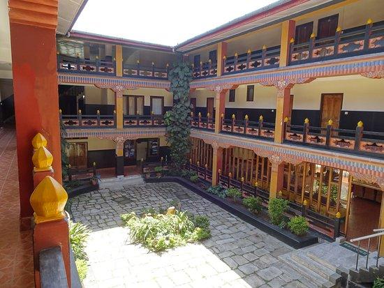 Mongar, Bhutan: inner courtyard