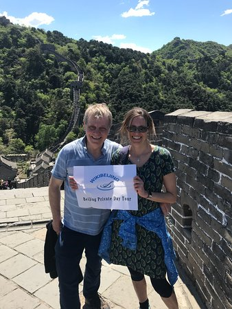 WikiBeijing: Lovely couples from England enjoying a beautiful day on Mutianyu Great Wall