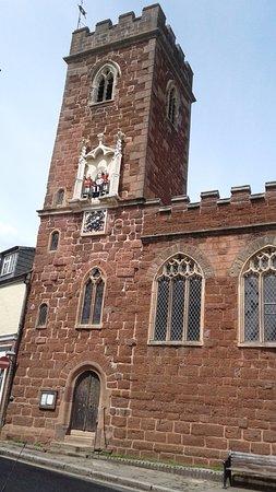 Ebford, UK: View of Church and clock tower