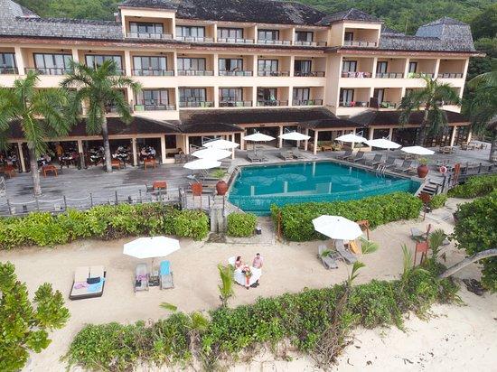 Anse Forbans, Seychelles: Petit déjeuner à l'extérieur
