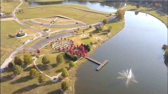 Vietnam Replica Wall Areial View With Veteran S Park Picture Of Vietnam Memorial Replica Wall Tupelo Tripadvisor