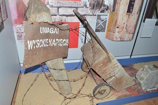 Byaroza, Weißrussland: Экспозиция посвящена периода существования концентрационного лагеря для политзаключенных в Берез