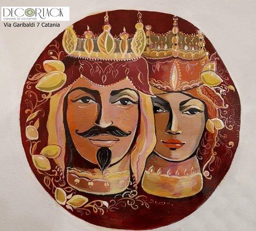 Coffa Siciliana Con Limoni Realizzati Alluncinetto Zoccoli