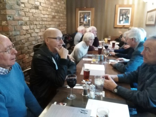Holbeach, UK: Part of the group of 20 who descended on the Horse and Groom
