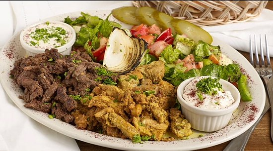 Westmont, IL: Chicken / Beef shawarma salad