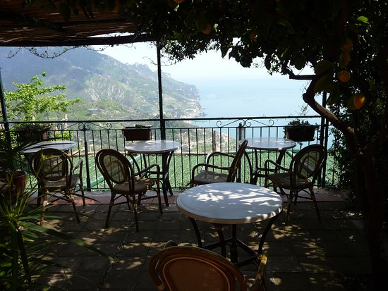 Ravello Rooms: View from breakfast terrace