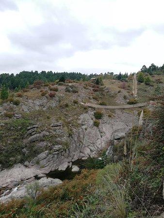 Peñón del Águila: Puente final de recorrido reserva