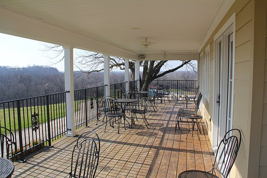 Marthasville, MO: From the wrap-around porch you can see for miles