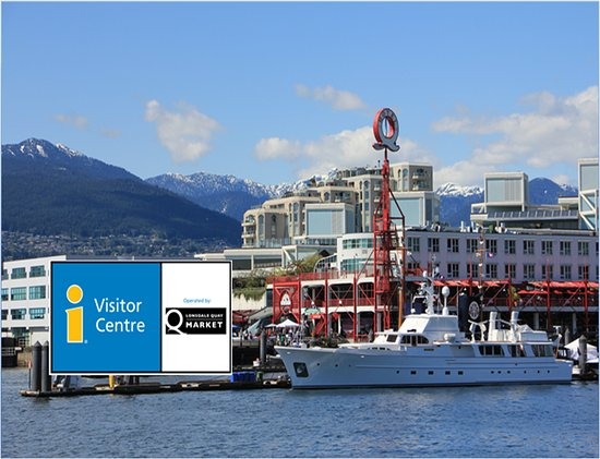 The North Vancouver Visitor Centre is located inside the Lonsdale Quay Market.