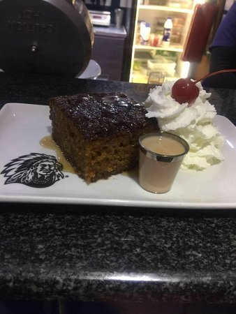 Copper Canyon Spur Steak Ranch: Malva Pudding served with Amarula cream Liquor top with fresh cream ... simply the best traditio