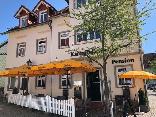 Bad Salzungen, Germany: Kleiner feiner Aussenbereich