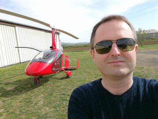 First Flight in Autogyro in Auvergne: l'appareil
